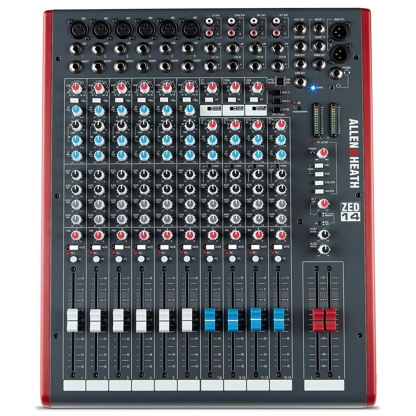 Allen & Heath ZED-14 USB Mixing Console