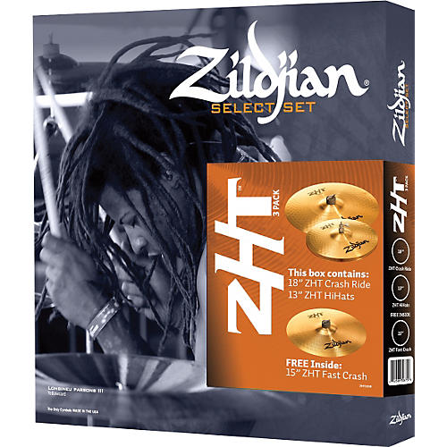 zildjian zht 3 select cymbal pack musician 39 s friend. Black Bedroom Furniture Sets. Home Design Ideas