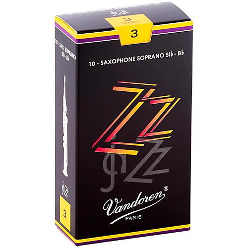 Vandoren ZZ Soprano Saxophone Reeds Strength 3, Box of 10