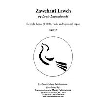 Transcontinental Music Zawcharti Lawch TTBB composed by Louis Lewandowski