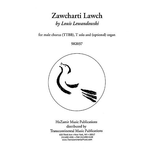 Transcontinental Music Zawcharti Lawch TTBB composed by Louis Lewandowski