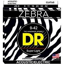 DR Strings Zebra Acoustic Electric Lite (9-42)