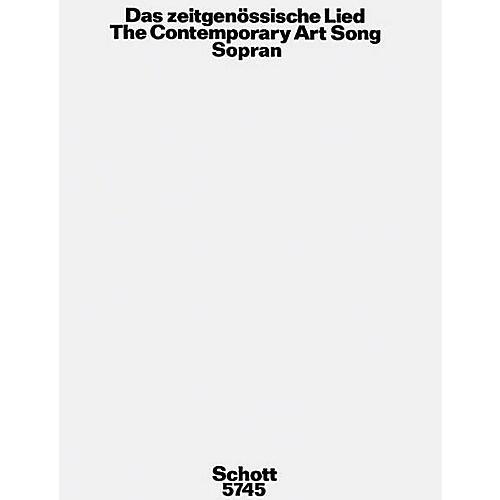 Schott Zeitgenossische Lied Soprano Schott Series
