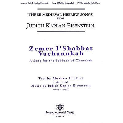 Transcontinental Music Zemer L'shabbat Vachanukah (A Song for the Sabbath of Chanukah) SATB a cappella by Judith Kaplan Eisenstein