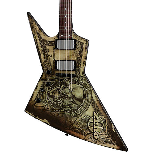 Dean Zero Dave Mustaine In Deth We Trust Left-Handed Electric Guitar