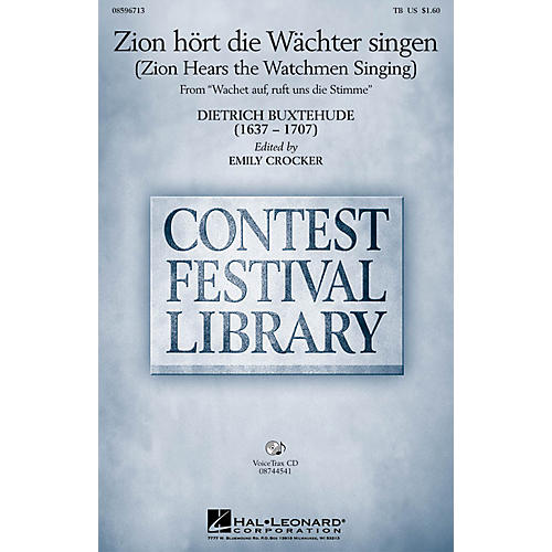Hal Leonard Zion hort die Wachter singen (Zion Hears the Watchmen Singing) TB arranged by Emily Crocker