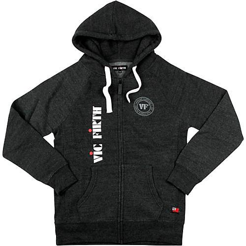 Vic Firth Zip Up Logo Hoodie Medium Charcoal