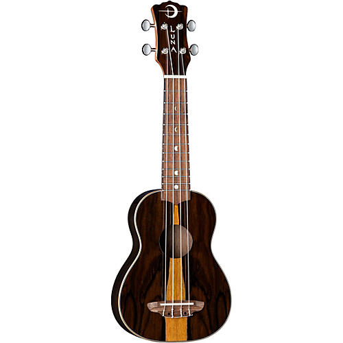 Luna Guitars Ziricote Wood Soprano Ukulele Gloss Natural