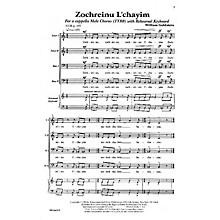 Transcontinental Music Zochreinu L'chayim TTBB composed by William Goldstein