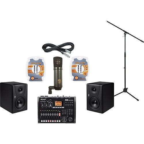 Mackie Zoom R8 and Mackie MR5 Recording Package