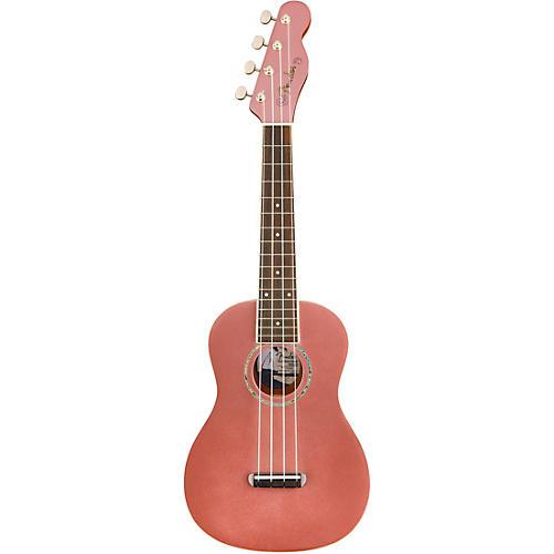 Fender Zuma Concert Ukulele Walnut Fingerboard Burgundy Mist
