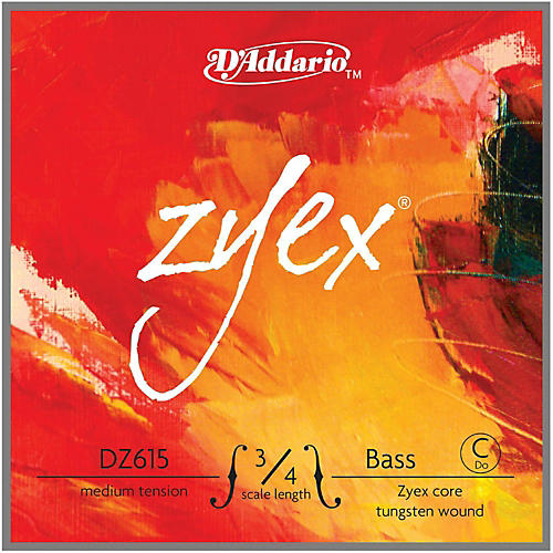 D'Addario Zyex Series Double Bass Low C (Extended E) String