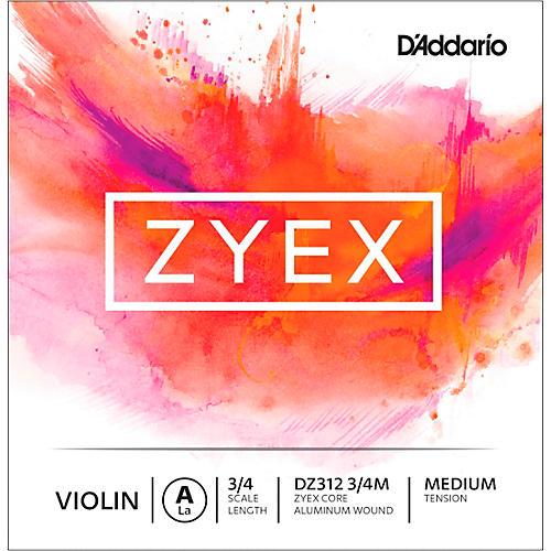 D'Addario Zyex Series Violin A String 3/4 Size