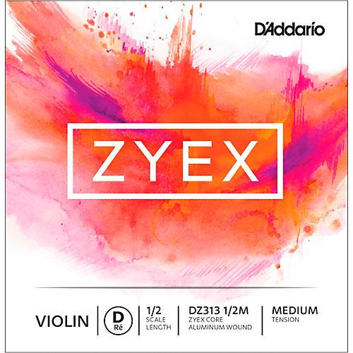 D'Addario Zyex Series Violin D String 1/2 Size