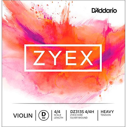 D'Addario Zyex Series Violin D String 4/4 Size Heavy Silver