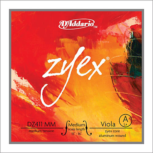 D'Addario Zyex Viola String A Medium Scale 4/4 Aluminum