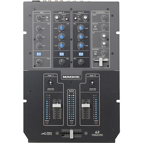 Mackie d.2 2-Channel DJ Mixer