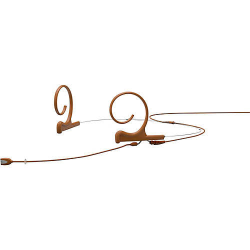 DPA Microphones d:fine FID Slim Directional Headset Microphone—Dual Ear, 100mm Boom, Brown