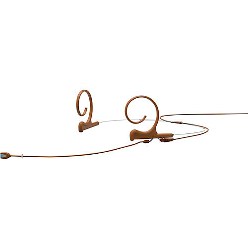 DPA Microphones d:fine FIO Slim Omnidirectional Headset Microphone—Dual Ear, 110mm Boom, Brown