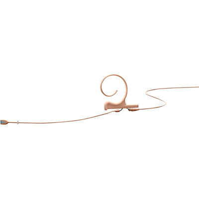DPA Microphones d:fine FIO Slim Omnidirectional Headset Microphone—Single Ear, 120mm Boom, Hardwired 3 Pin Lemo, Beige