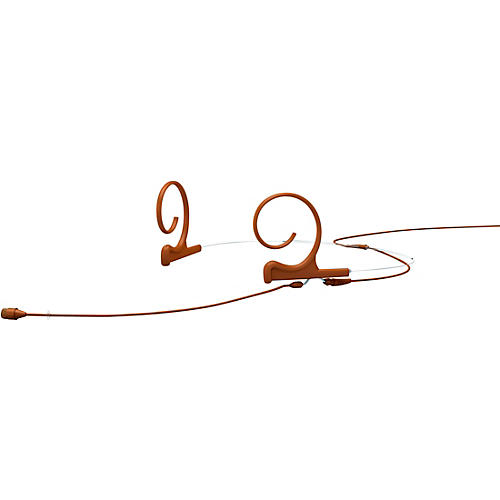 DPA Microphones d:fine FIO66 Omnidirectional Headset Microphone—Dual Ear, 110mm Boom, Brown