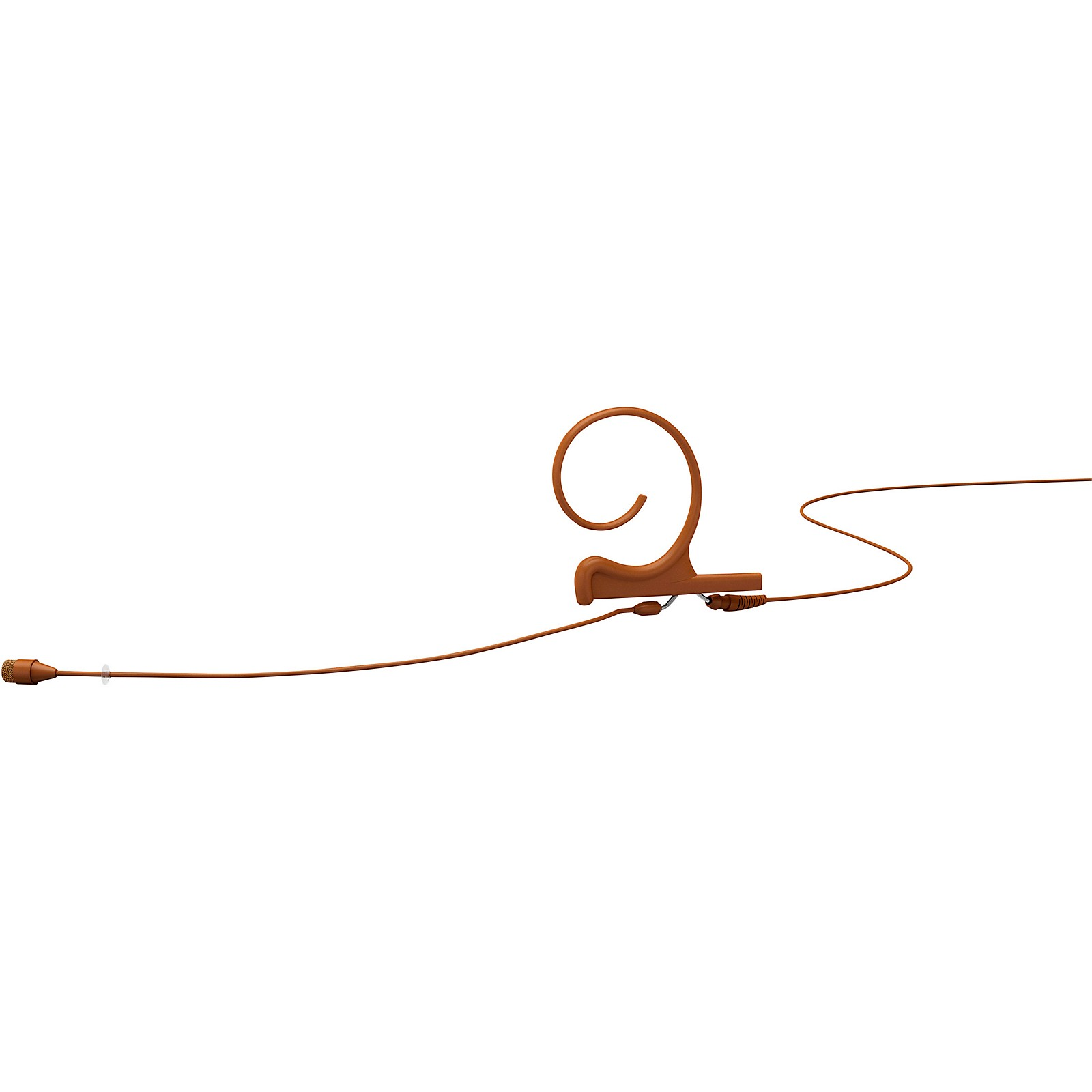 DPA Microphones d:fine FIO66 Omnidirectional Headset Microphone—Single Ear, 90mm Boom, Brown