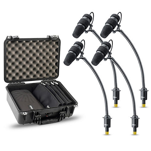 DPA Microphones d:vote CORE 4099 Mic Rock Touring Kit, 4 Mics and accessories, Extreme SPL in a Peli-case