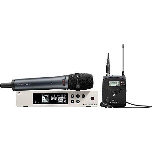 Sennheiser ew 100 G4 Handheld/Lavalier Combo Wireless System with ME2 and e835