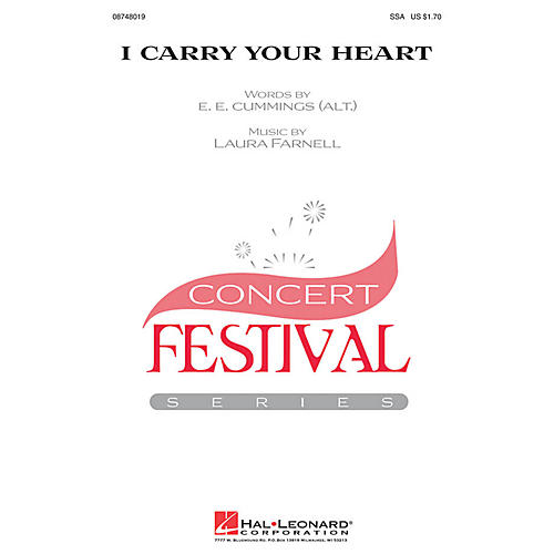 Hal Leonard i carry your heart SSA composed by Laura Farnell