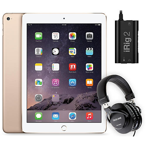 Apple iPad Air 2 128GB Gold with iRig 2 and TH-200X Headphones