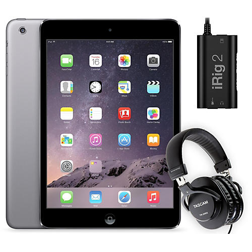 Apple iPad Mini  MF432LL/A with iRig 2 and TH-200X Headphones
