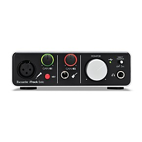 focusrite itrack solo audio interface for ipad mac and pc musician 39 s friend. Black Bedroom Furniture Sets. Home Design Ideas