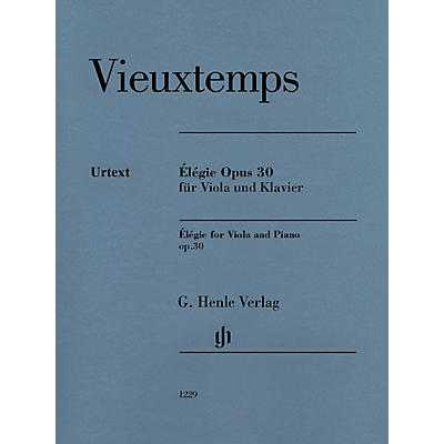 G. Henle Verlag Élégie Op. 30 (Viola and Piano) Henle Music Folios Series Softcover