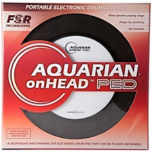 Open Box Aquarian onHEAD Portable Electronic Drumsurface Bundle Pak
