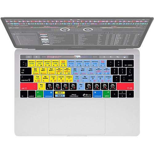 KB Covers rekordbox Keyboard Cover for Macbook Pro 2016+ with Touch Bar