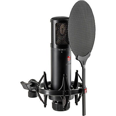 SE Electronics sE2300 microphone with shock mount,pop filter and thread adapter