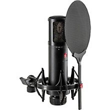 Open BoxsE Electronics sE2300 microphone with shock mount,pop filter and thread adapter