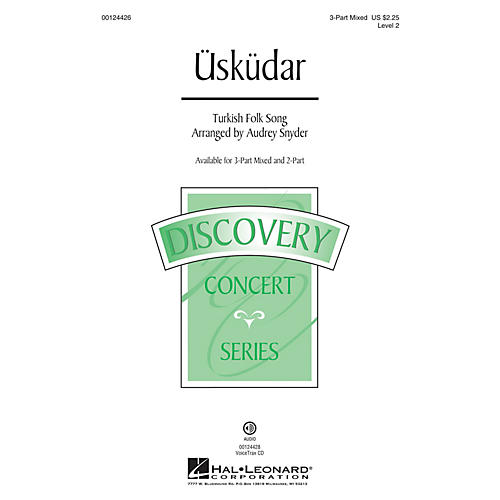 Hal Leonard Üsküdar (Discovery Level 2) 3-Part Mixed arranged by Audrey Snyder